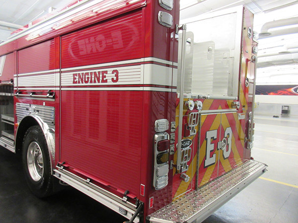 Fire engine being built by E-ONE