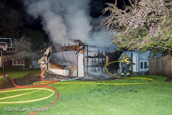 house fire scene in Buffalo Grove IL