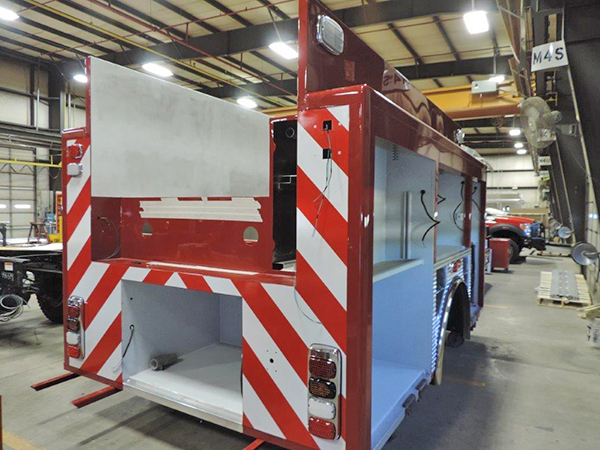 fire engine being built for Maywood IL