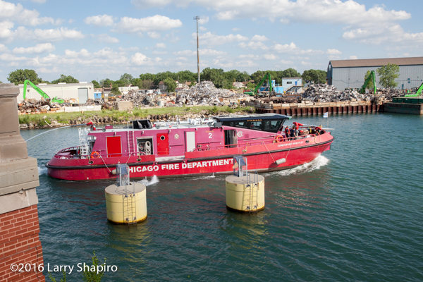 Chicago FD Engine 2 fire boat the Christopher Wheatley