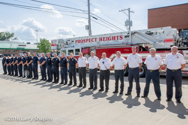firefighters lined up for inspection
