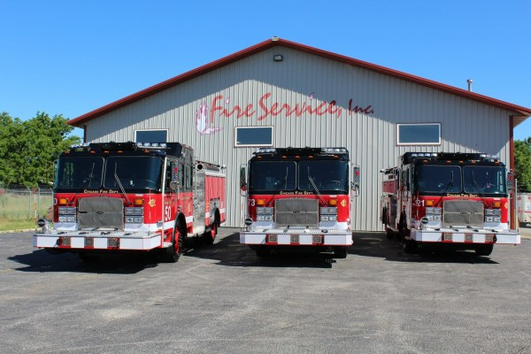 new fire engines for the Chicago FD