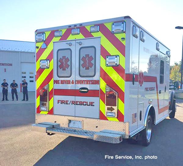 rear chevron striping on ambulance