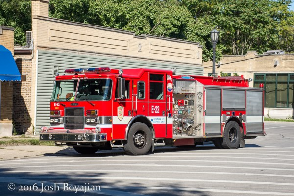 Evanston FD Engine 22