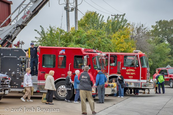 people at fire department open house
