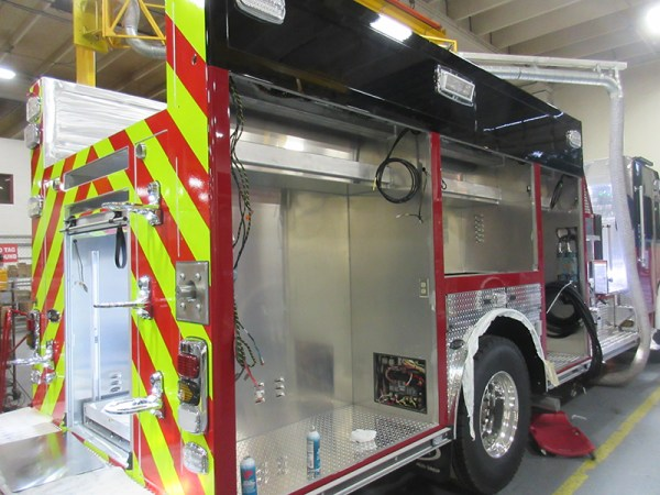 Fire engine being built for the Buffalo Grove FD