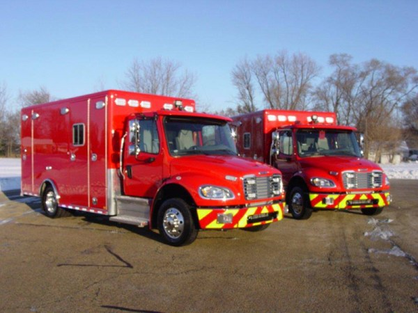 Freightliner M2 chassis for ambulances