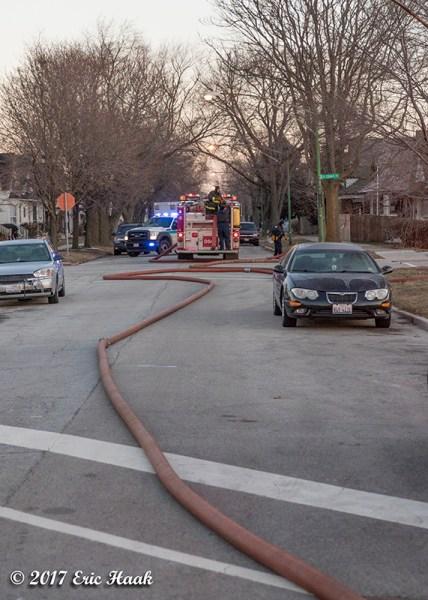 LDH hose in street