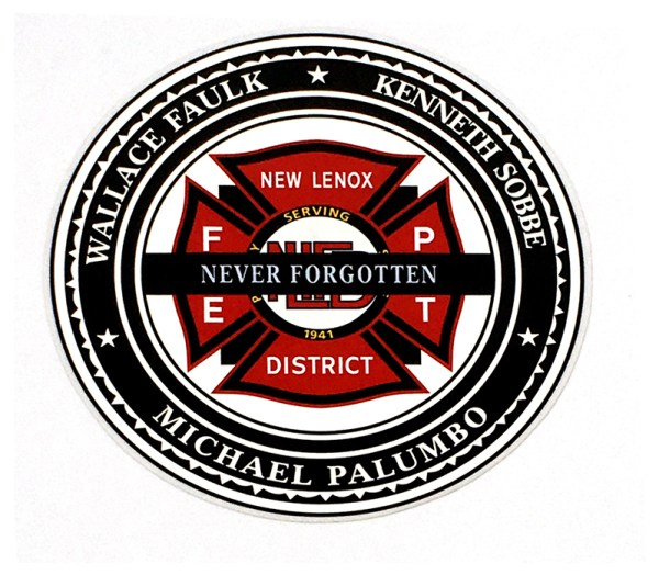 New Lenox FPD memorial decal