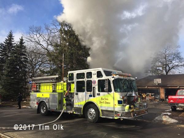 Fox Lake fire engine at scene