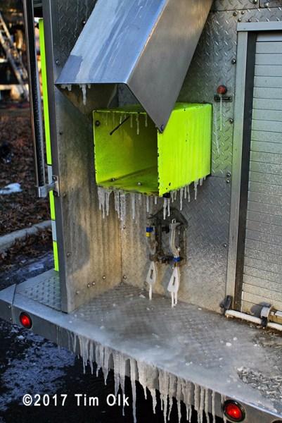 ice on fire engine