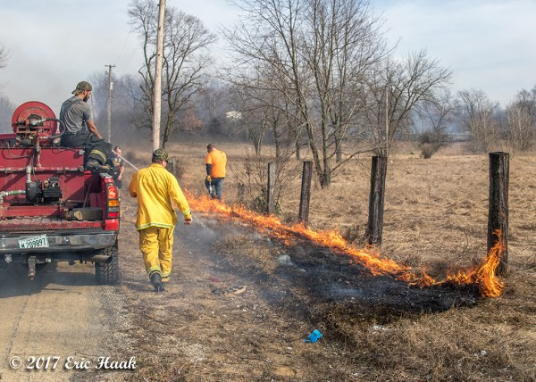 back burning during brush fire