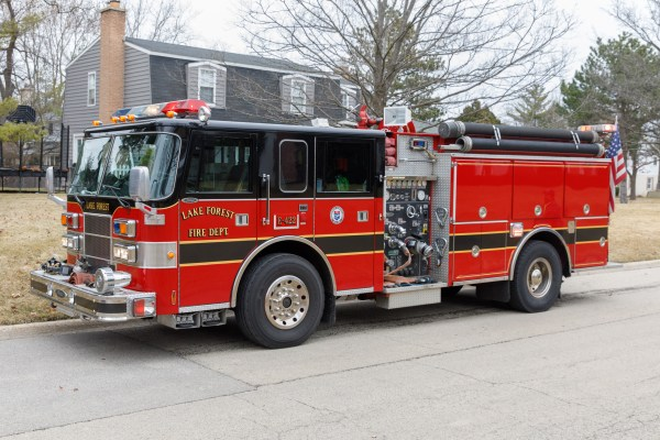 Lake Forest FD fire engine