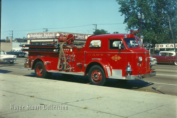 historic fire engine from Gary Indiana
