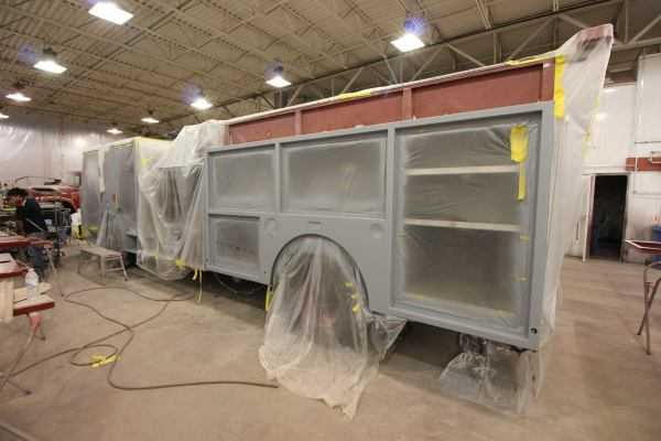 fire truck being painted