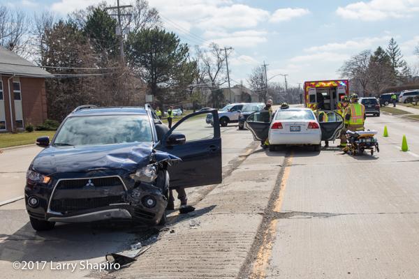 two car crash scene