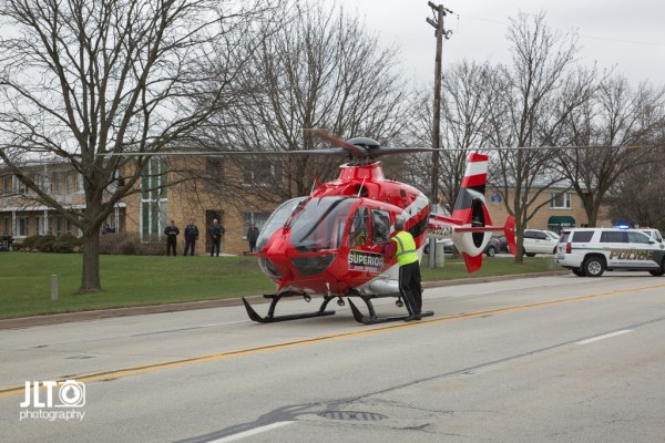 Superior Air Med helicopter on scene
