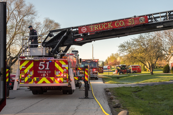 Lincolnshire-Riverwoods FPD fire trucks
