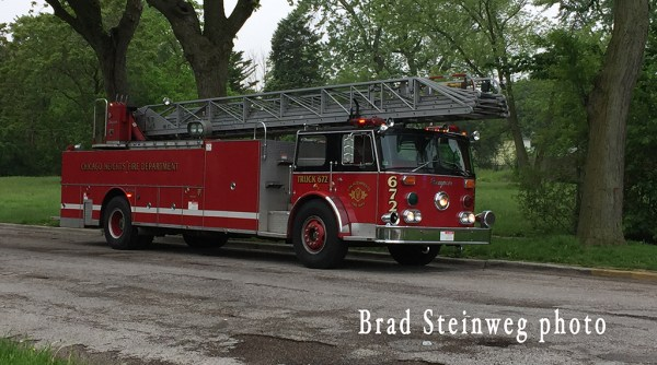 Chicago Heights FD Truck 672 formerly from the Tinley Park FD