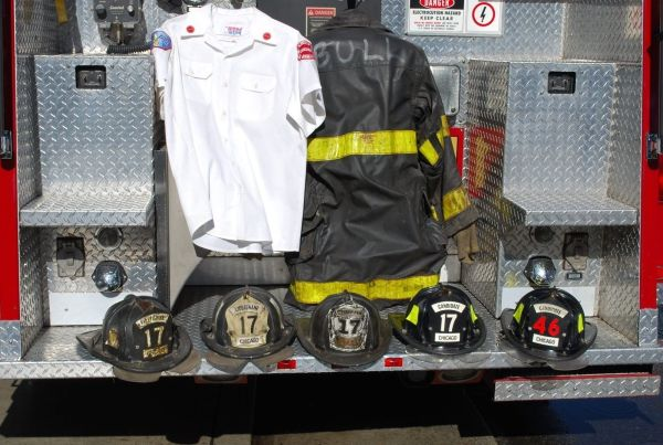 CFD uniforms from the movie Backdraft