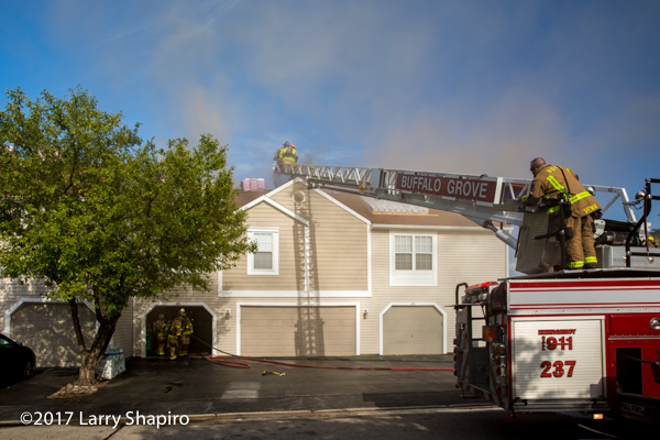 townhouse building fire