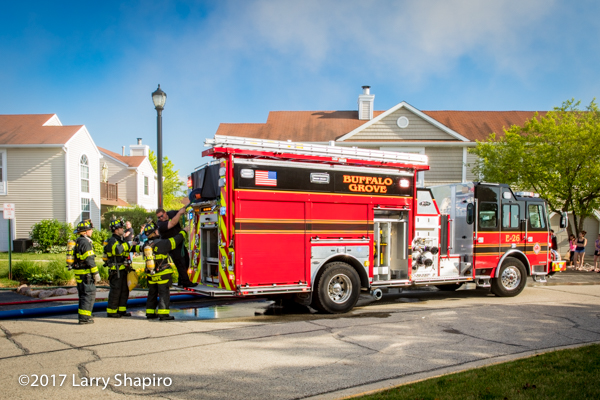 Buffalo Grove FD E-ONE Typhoon fire engine at work