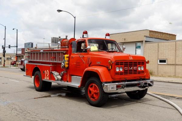restored NAS Glenview fire engine