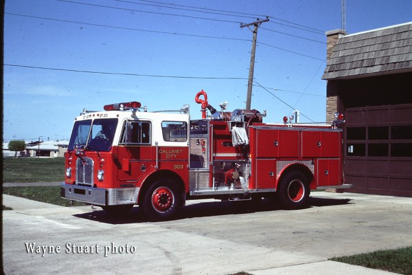 vintage Calumet City fire engine