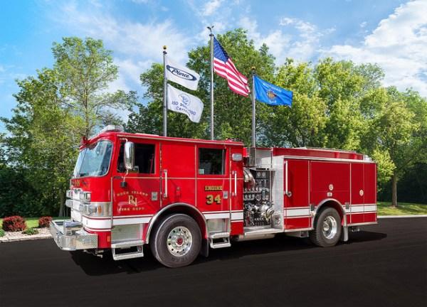 Rock Island FD fire engine