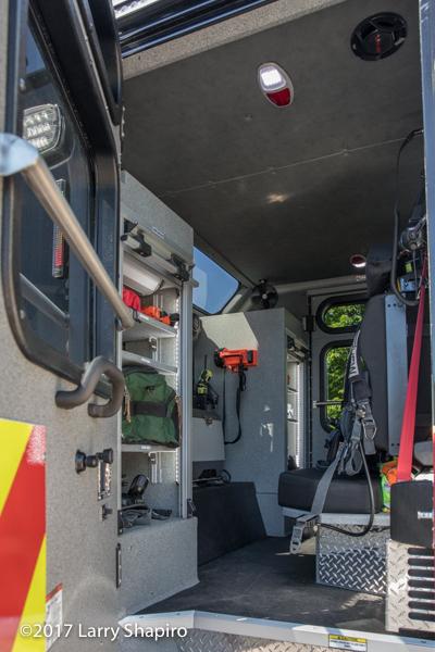 interior of fire engine