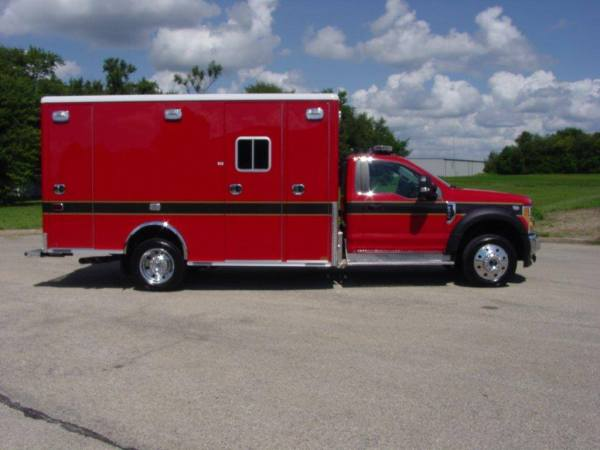 Horton Type I ambulance F550 chassis on a Ford