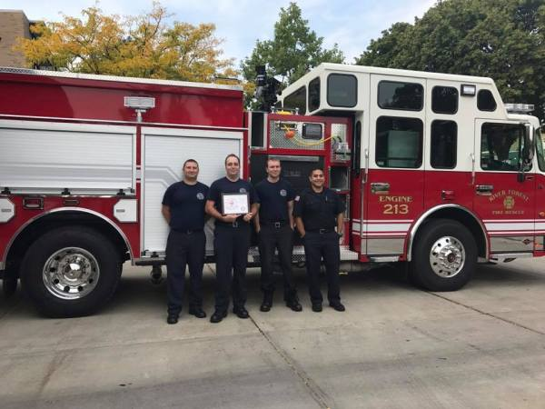 River Forest firefighters collected money for the MDA