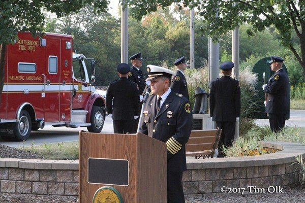 Northbrook Fire Department memorial ceremony for 9/11