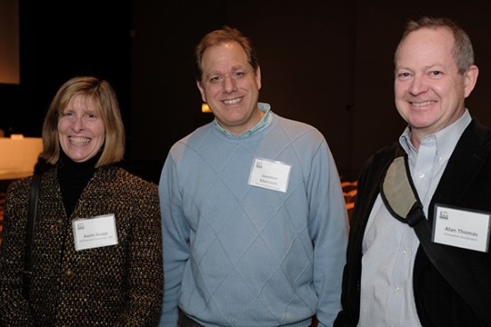 Karen Snapp (CBC), Jonathan Silverstein (Tempus) and Alan Thomas (Innovation Accelerator)