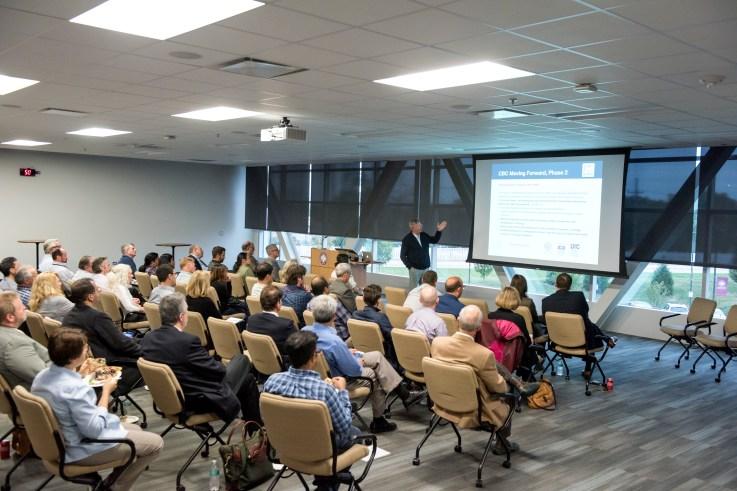 Jim Audia at BioPathways-Entrepreneur Speaker Series Event at Rosalind Franklin University