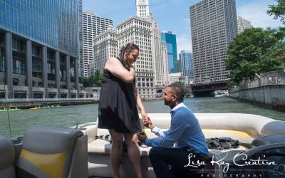Another Wedding Proposal At Chicago Boat Rentals