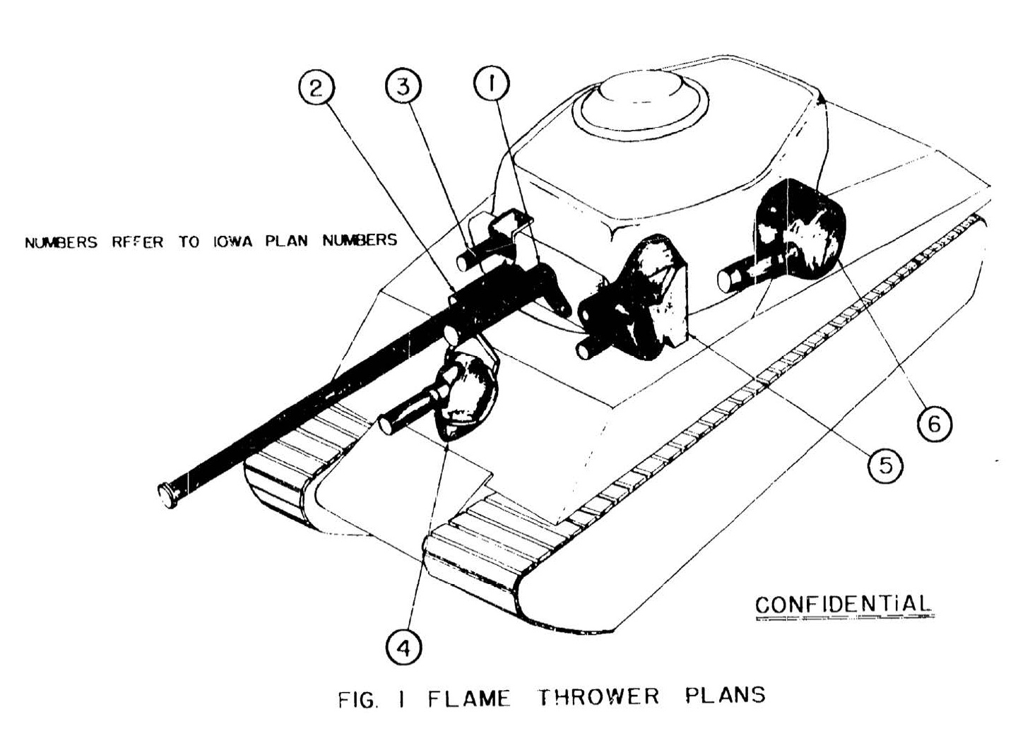 E19 19 coaxial flamethrower for the m4a3 76 tank