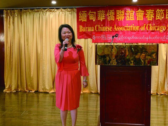 照片四:中華會館主席黃于紋致辭