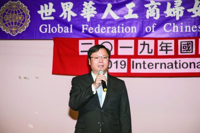 駐芝加哥台北經濟文化辦事處處長黃鈞耀應邀致詞