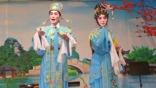 照片十三:陳振洪、陳靜迎的折子戲《別館盟心》