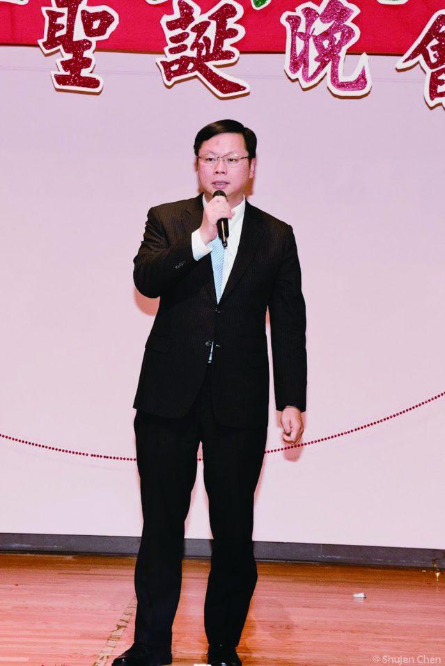 駐芝加哥台北經濟文化辦事處處長黃鈞耀致詞