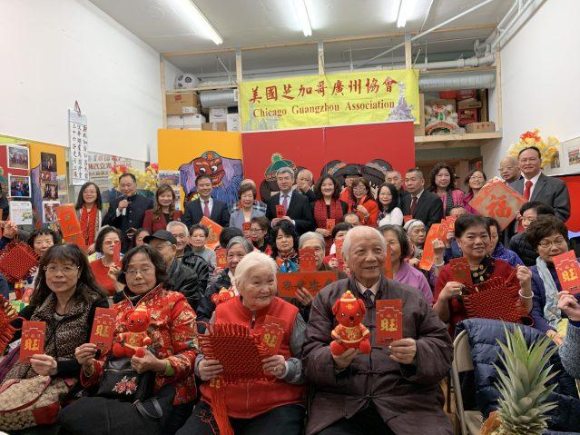 5.趙建總領事、邊志春副總領事等人拜訪了廣州協會