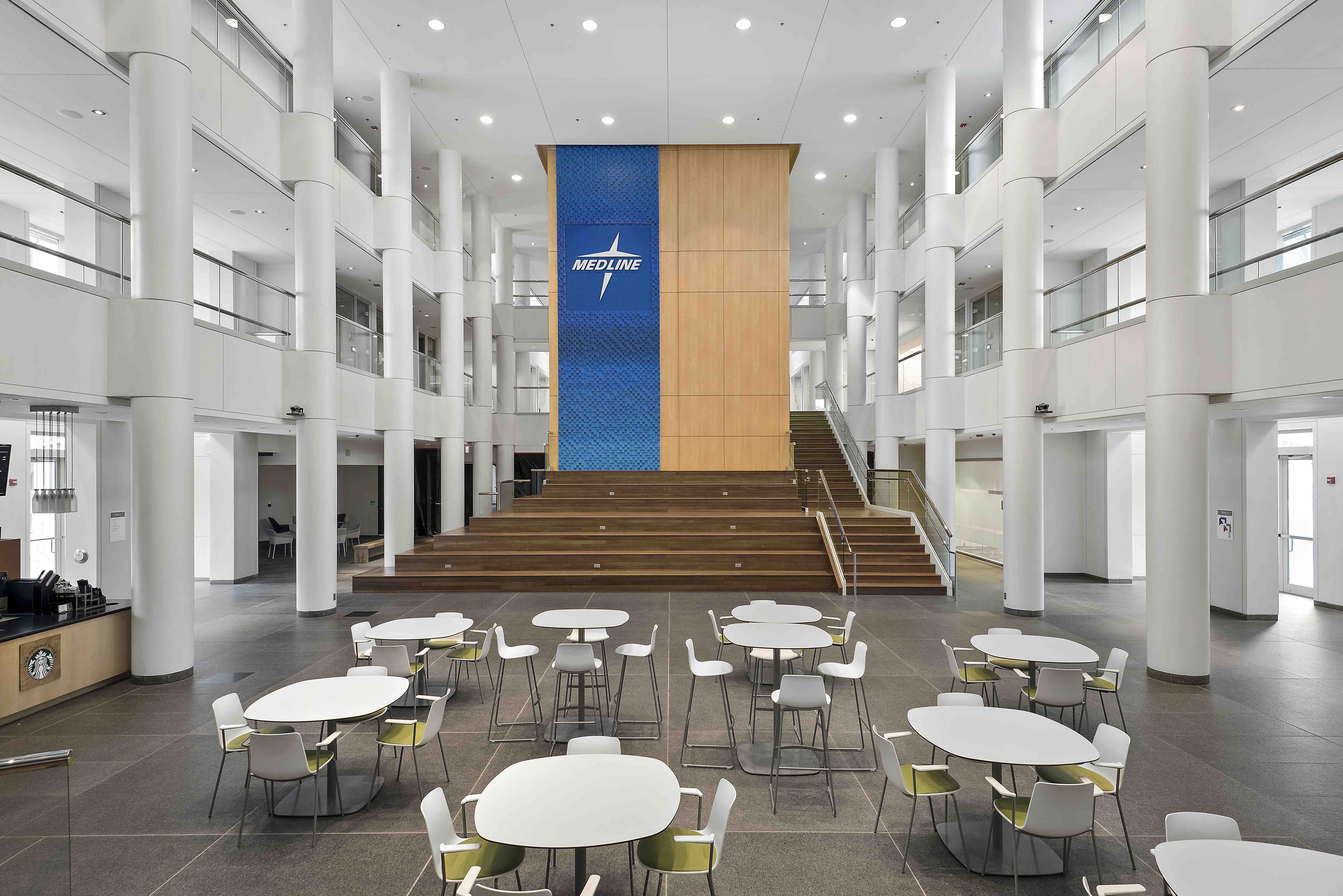 Former Kraft Food headquarters converted for Medline Industries  Chicago Construction News