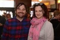 Director James Ponsoldt and Joan Cusack for THE END OF THE TOUR