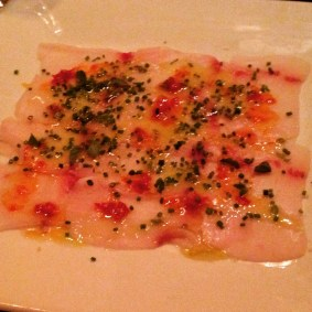 Smoked Swordfish Carpaccio, Ceres' Table, Chicago, IL