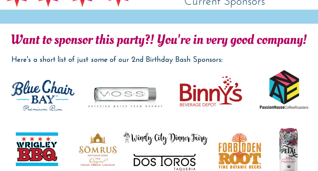 Sponsor our 2nd Birthday Bash!