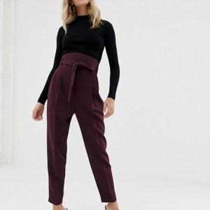 ASOS DESIGN high waist balloon tapered pants