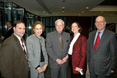 Greg Guilliver, Dolores Hanna, Joe Piatt, Mickie Piatt, and Jerry Gilson all worked on various tasks to ensure the success of the CAFC visit.