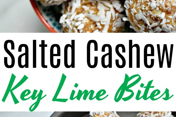 Salted Cashew Key Lime Bites