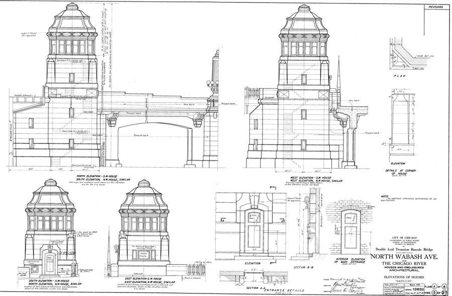 N Wabash Ave Bridge Drawing, Chicago, IL (1)